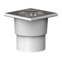 Трап канализационный Ф 110 вертикальный 150х150 металлическая  решетка