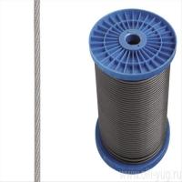 Трос стальной(нержавеющий) 5мм усилие разрыва 1200 кг