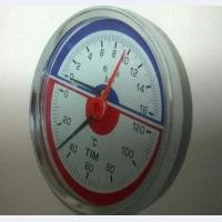 Термоманометр аксиальный TIM 0-16 bar 120C D80 mm